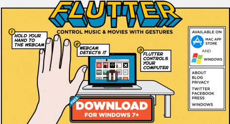 Flutter   Control music and movies with gestures